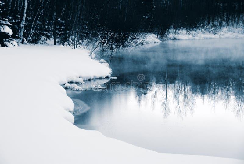 Winter-Blau stockbilder
