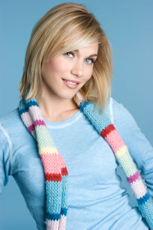 Winter Blond Girl stock image