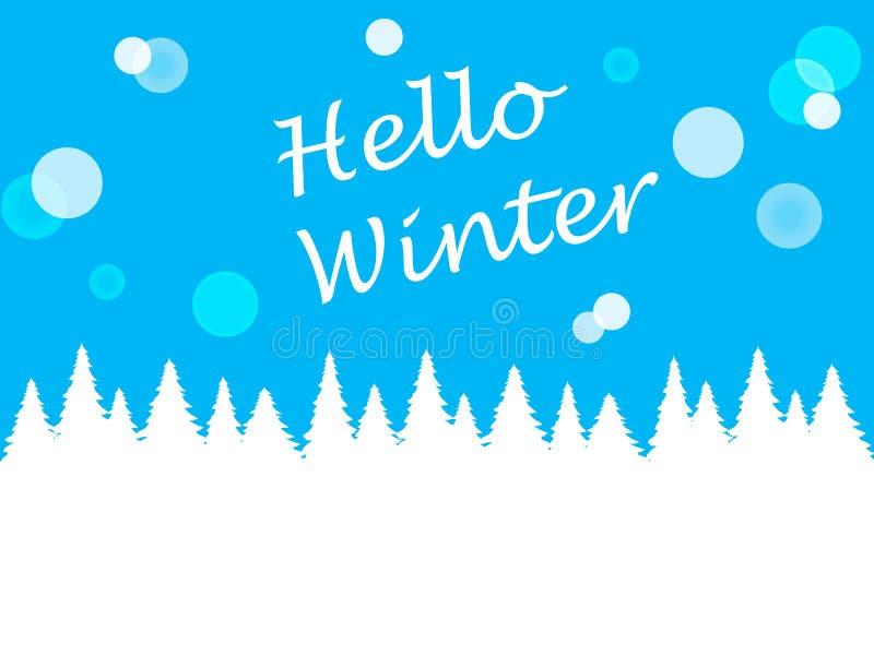 Winter blue background for design stock illustration