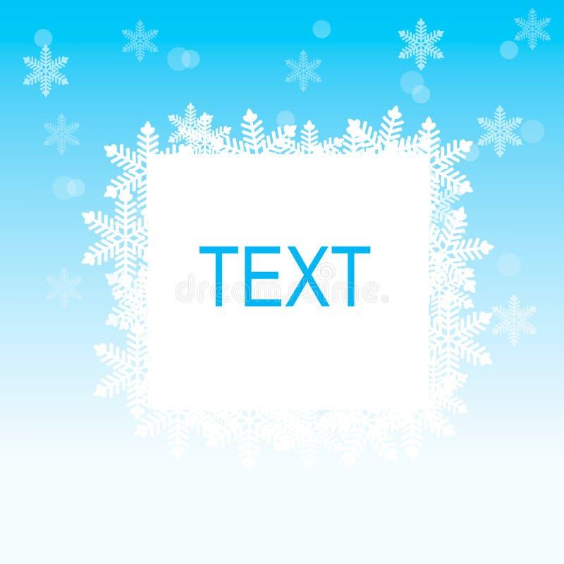 Winter blue background stock illustration