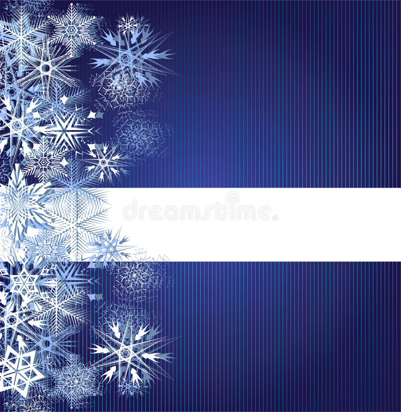 Winter blue background with snowflakes vector illustration