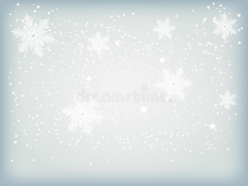 Winter blue background with snowflakes. Merry Christmas background with snowflakes. Happy New Year abstract blue winter background texture. Vector Illustration royalty free illustration