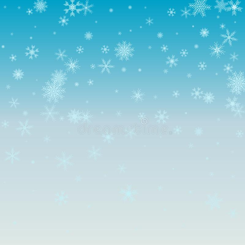 Winter blue background with snowflakes. Vector Illustration. Winter blue background with snowflakes. Vector Illustration stock illustration