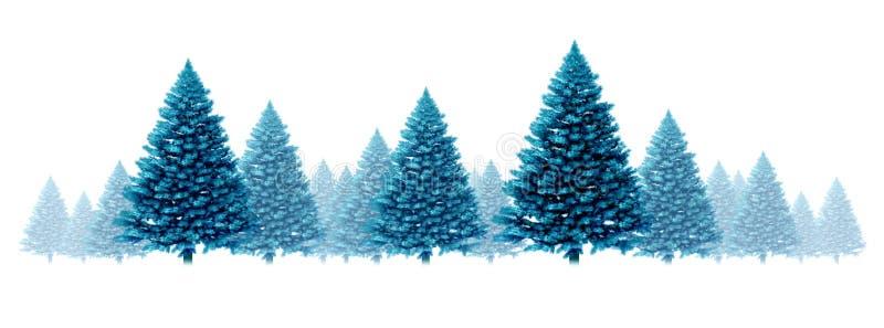 Winter blue pine background stock illustration for Winter design group