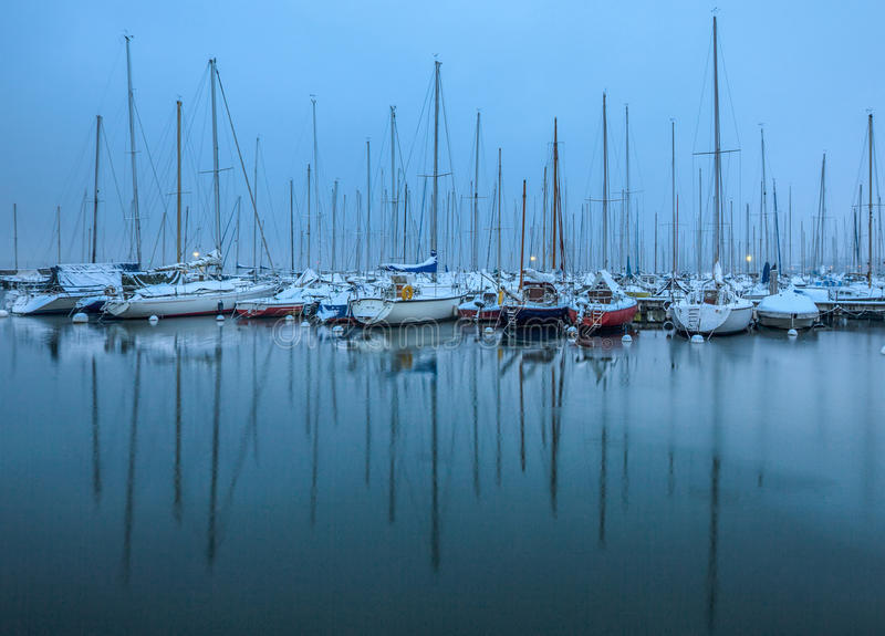 Download Winter In A Boat Marina Stock Photography - Image: 28743132