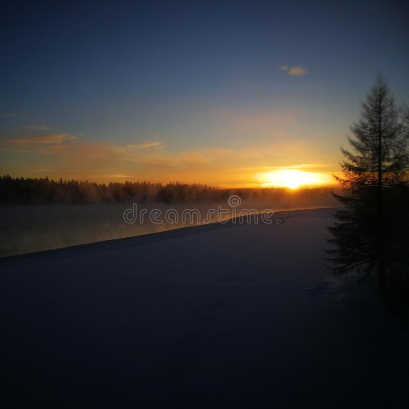 Winter in Scandinavia royalty free stock photos