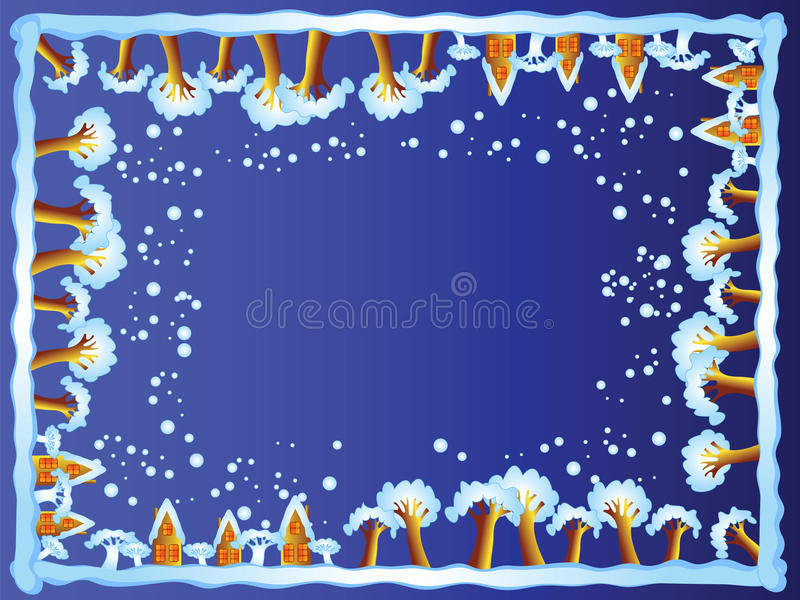 Download Winter border (night) stock vector. Image of frost, decoration - 12565765