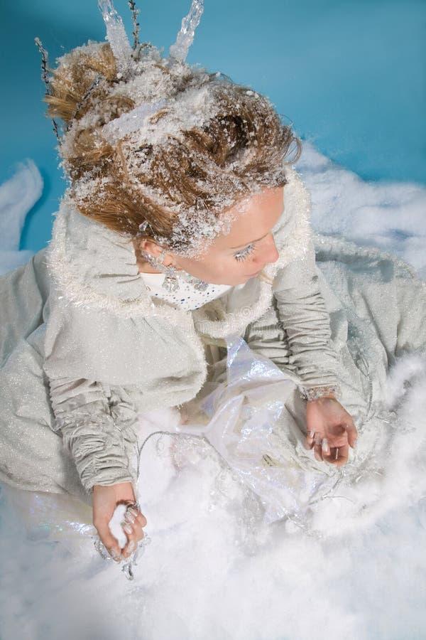 Winter bride royalty free stock photos