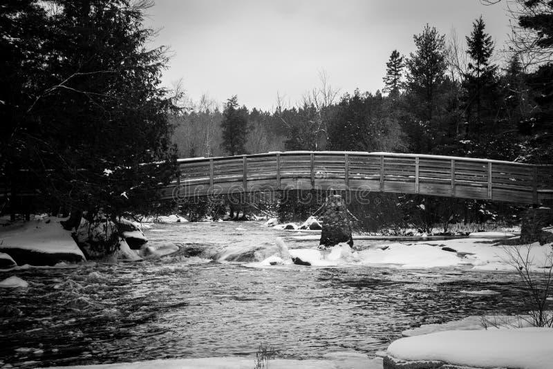 Winter Bridge stock photo