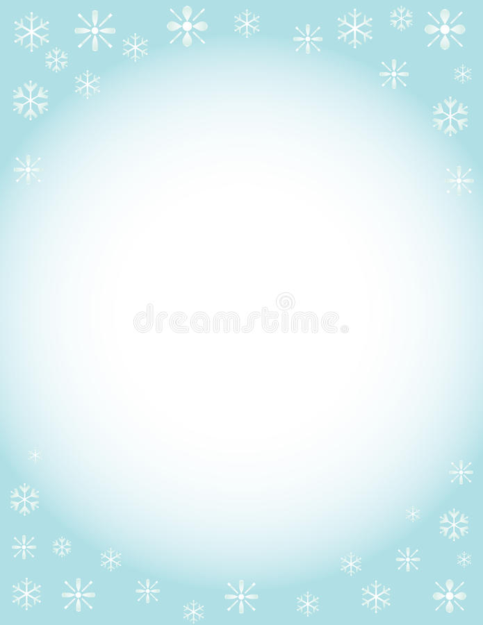 Winter Brochure Background Stock Illustration. Illustration Of