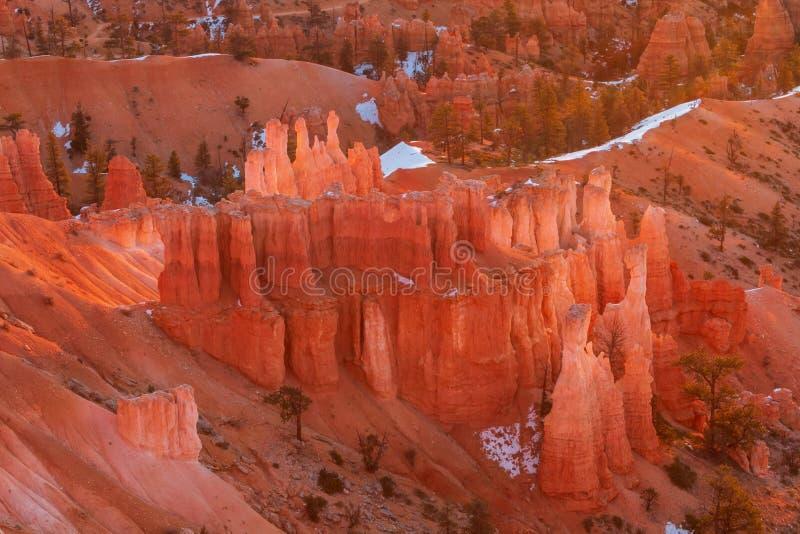 Winter in Bryce Canyon Utah stock photos