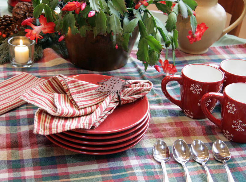 Winter Buffet Table Setup Royalty Free Stock Photography