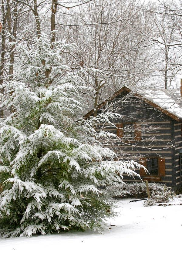 Winter cabin royalty free stock photos