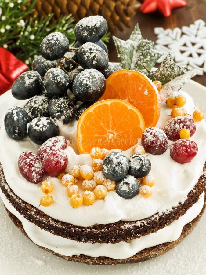Winter cake stock photos