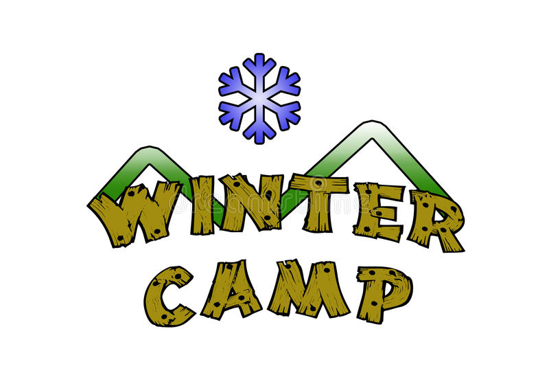 Winter Camp vector illustration