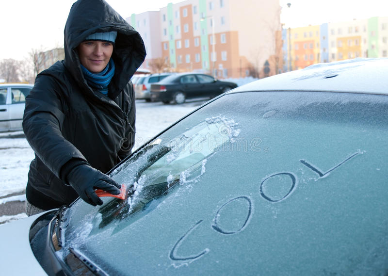 Download Winter car problem stock image. Image of scratch, cool - 12573059