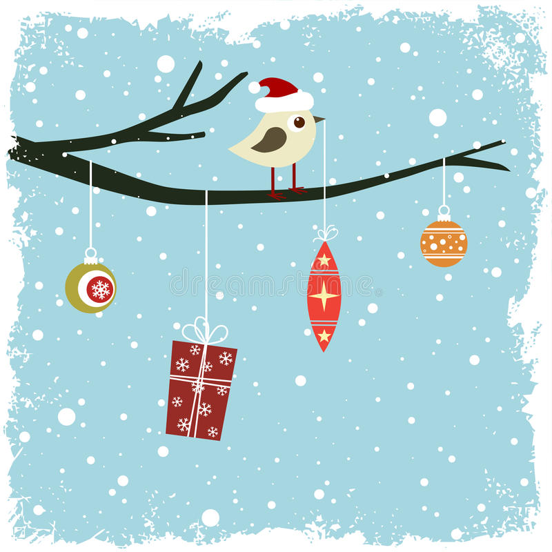 Download Winter card stock vector. Image of cold, branch, background - 22191688