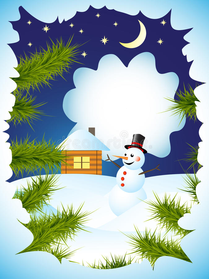 Download Winter card stock vector. Image of decoration, smiling - 22579156