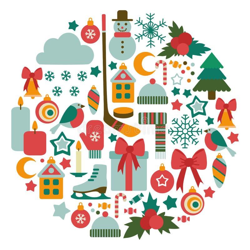 Winter card stock illustration