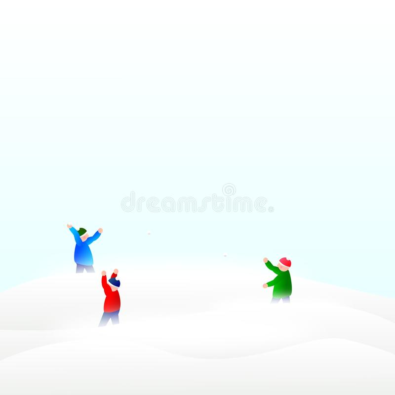 Download Winter card snowy day stock illustration. Image of christmas - 22596632