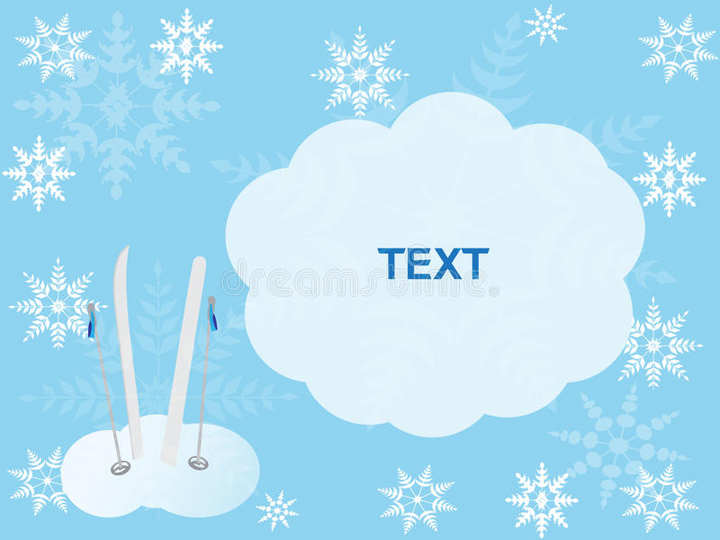 Winter card for writing the text royalty free illustration