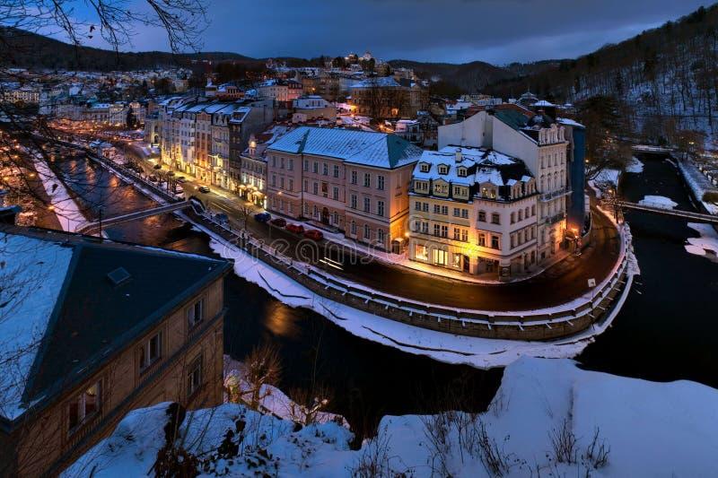 Winter Carlsbad royalty free stock photos