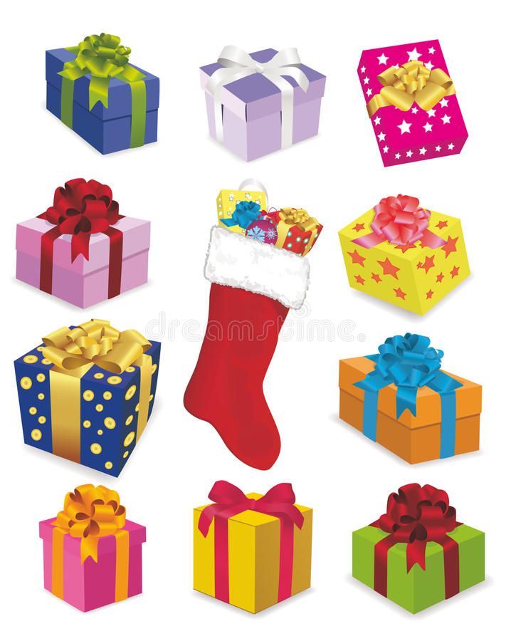 Winter celebratory gifts royalty free stock images