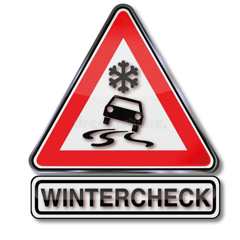 Winter Check For Your Car Stock Vector Illustration Of Flow 46752112