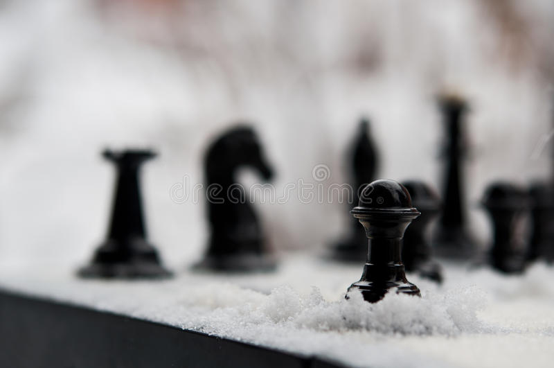 Download Winter chess pieces pawn stock photo. Image of chessman - 28808756