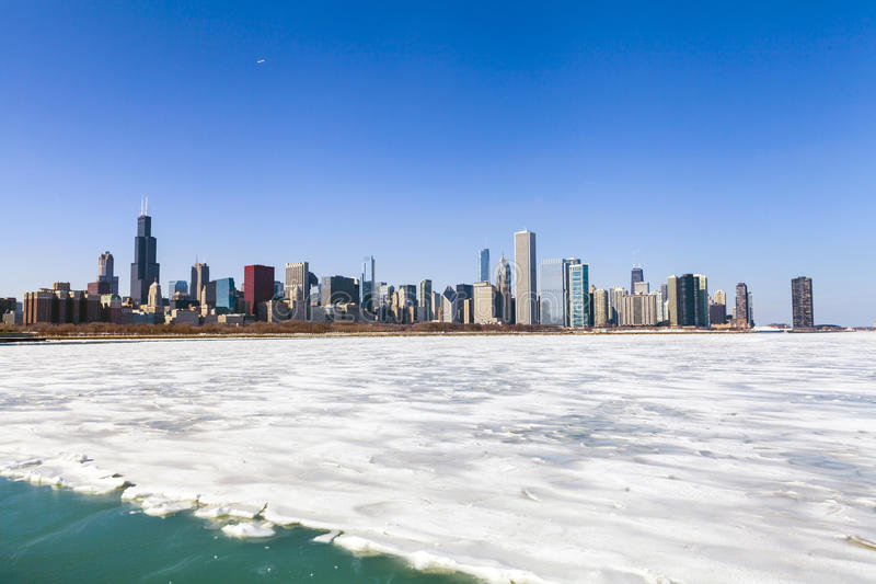 Winter In Chicago royalty free stock photos