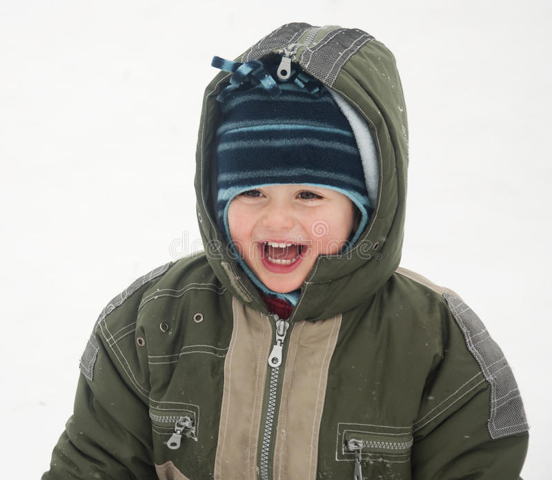 Download Winter child stock image. Image of outside, snow, fresh - 22012747