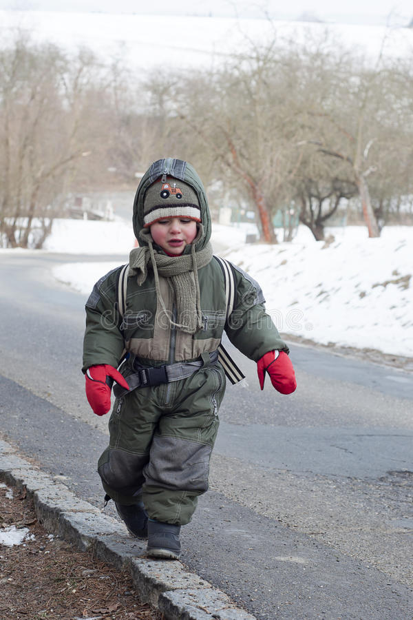 Download Winter child stock photo. Image of adult, drive, outdoors - 26690868