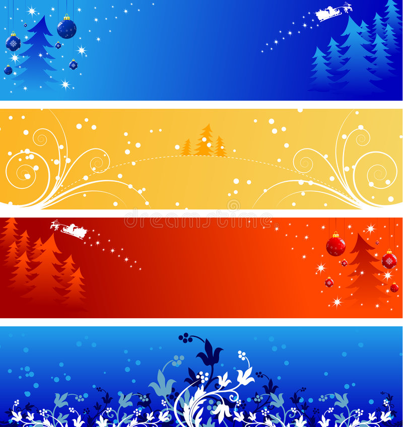 Winter Christmas banners stock illustration