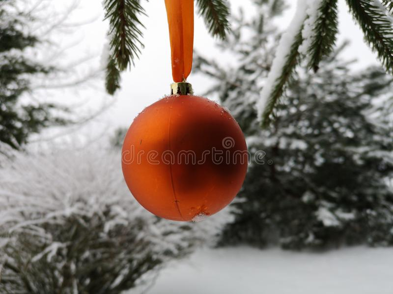 Winter and Christmas background stock images