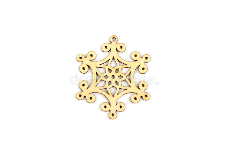 Winter,Christmas, New Year wooden decoration - snowflake, star. stock photography