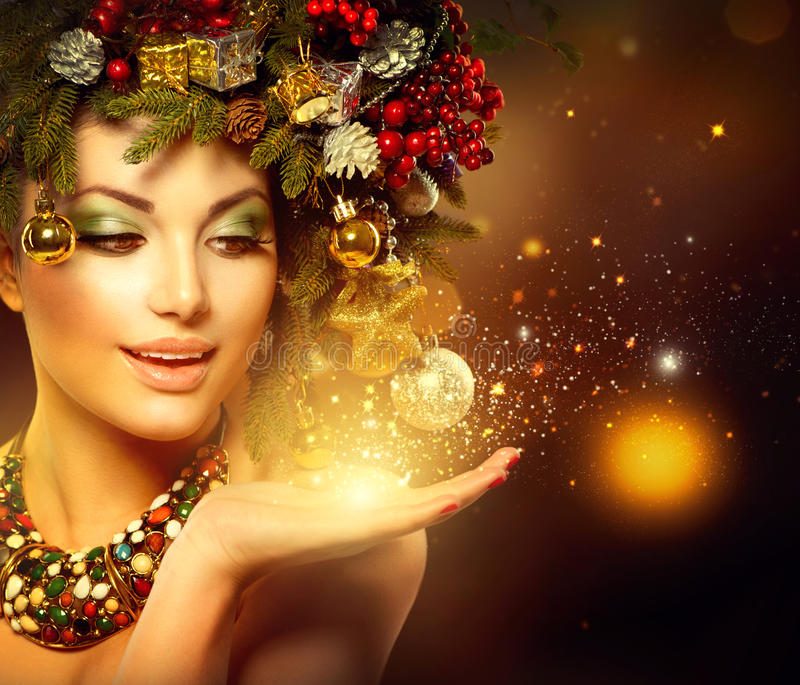 Winter Christmas Woman royalty free stock photography
