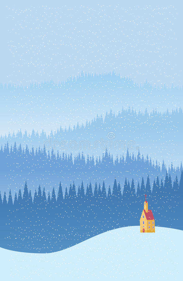 Free Winter Church Background Stock Image - 33175921