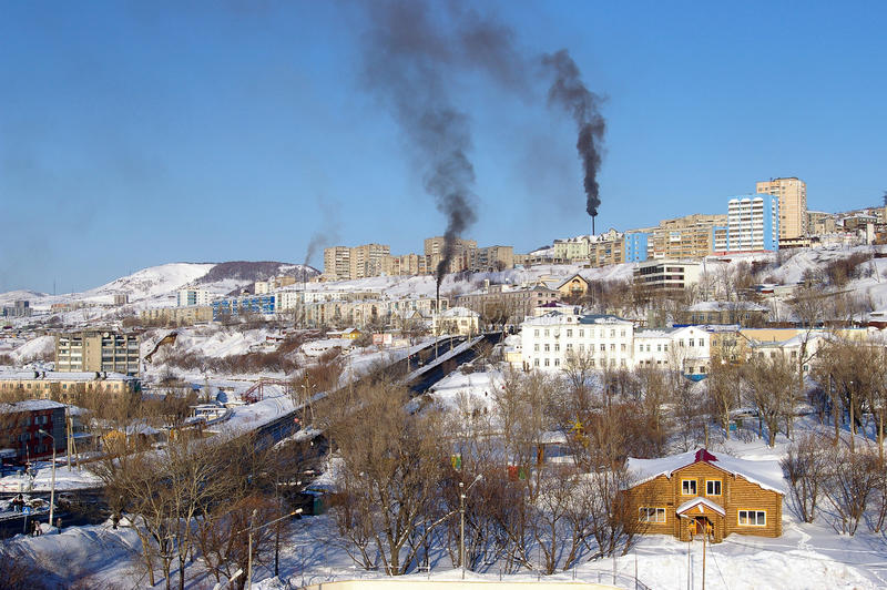 Download Winter city stock image. Image of settlement, smoking - 13772807