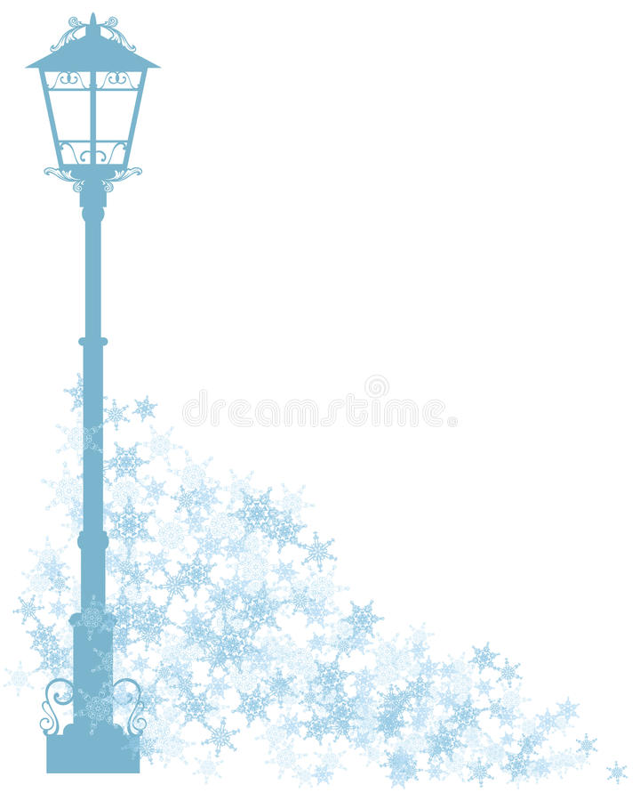 Winter in the city royalty free illustration