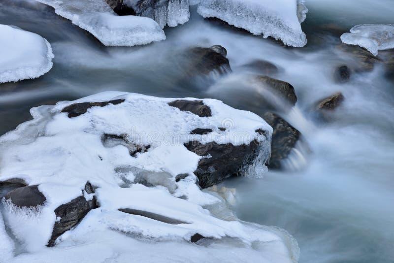 Winter Clear Creek arkivfoto