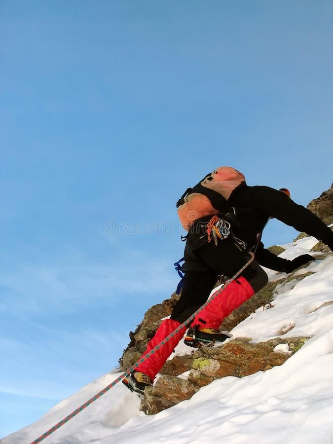 Winter climber royalty free stock photo