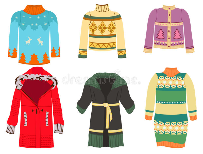 Download Winter clothes stock vector. Illustration of jumper, knitwear - 27891138