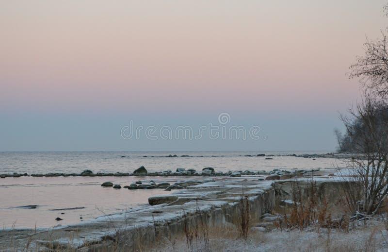 Winter coast stock image