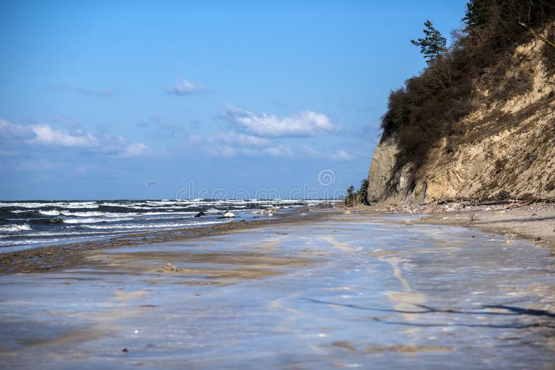 Winter coastal landscape at the Baltic Sea in Poland. Winter coastal landscape at the Baltic Sea in Poland stock image