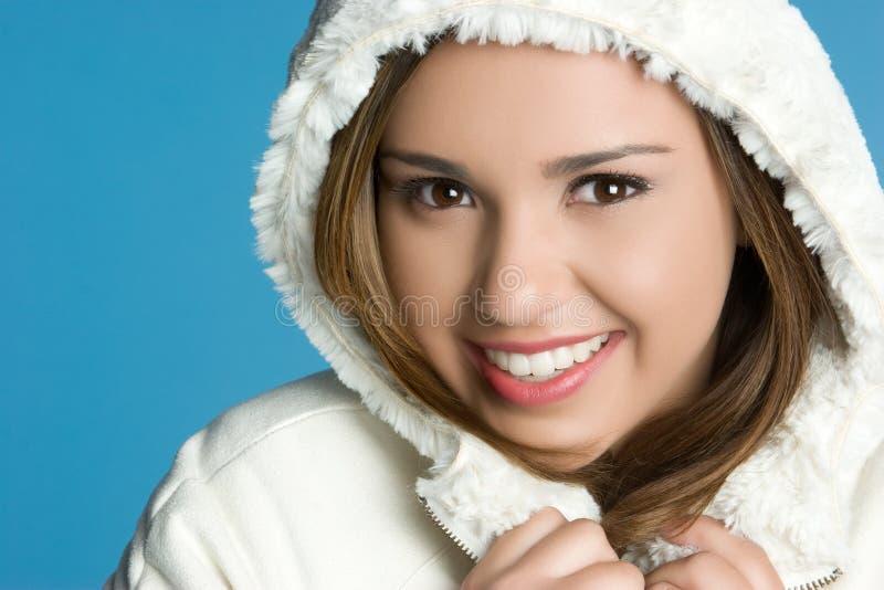 Winter Coat Woman. Pretty woman wearing winter coat royalty free stock photography