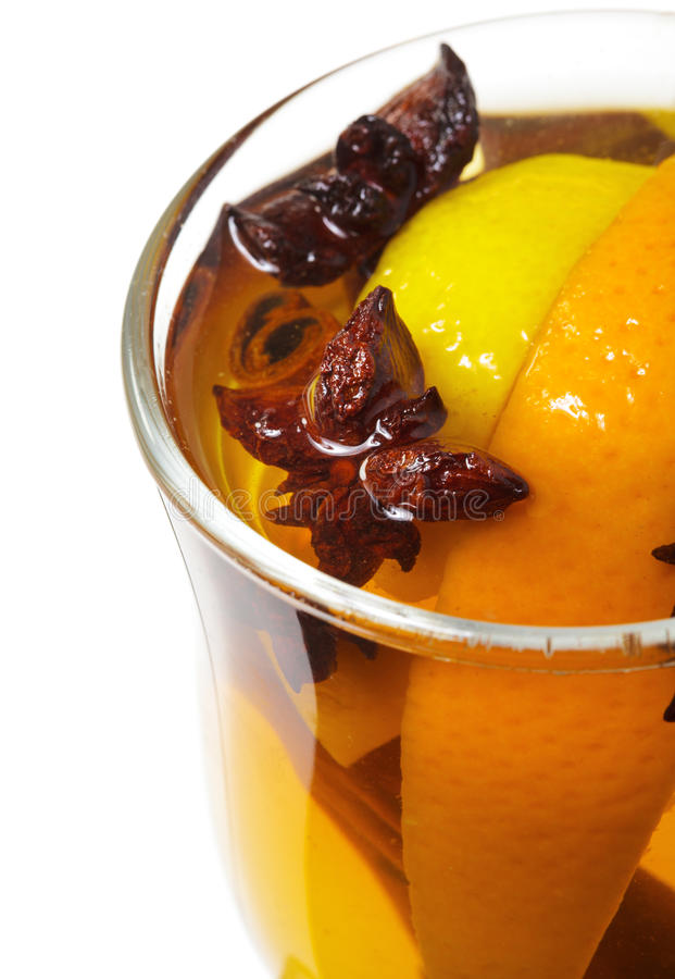Winter Cocktail -Mulled Wine stock images