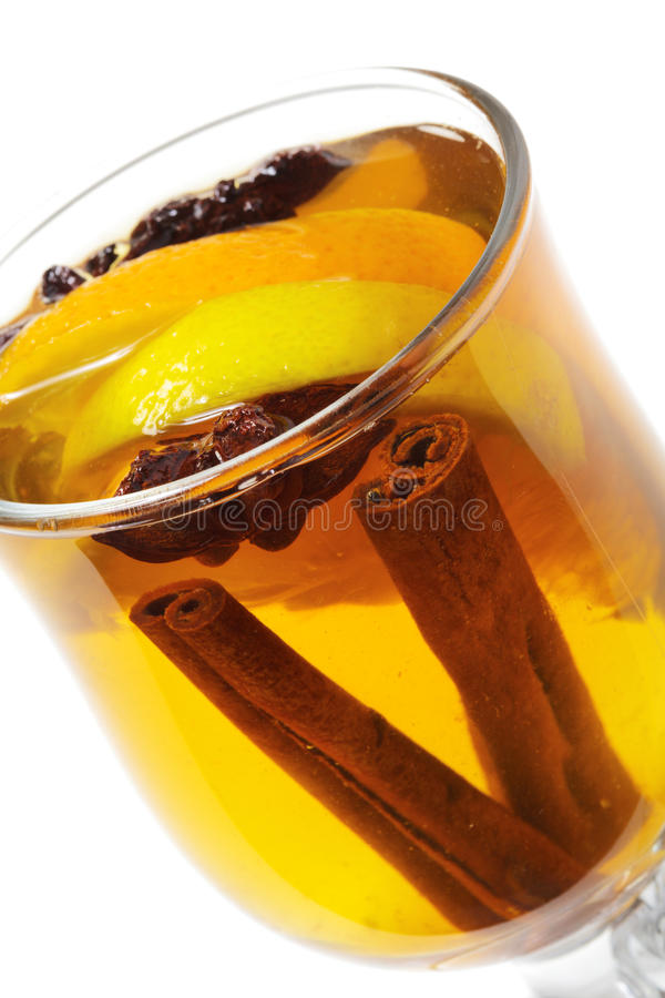 Winter Cocktail -Mulled Wine Royalty Free Stock Photos
