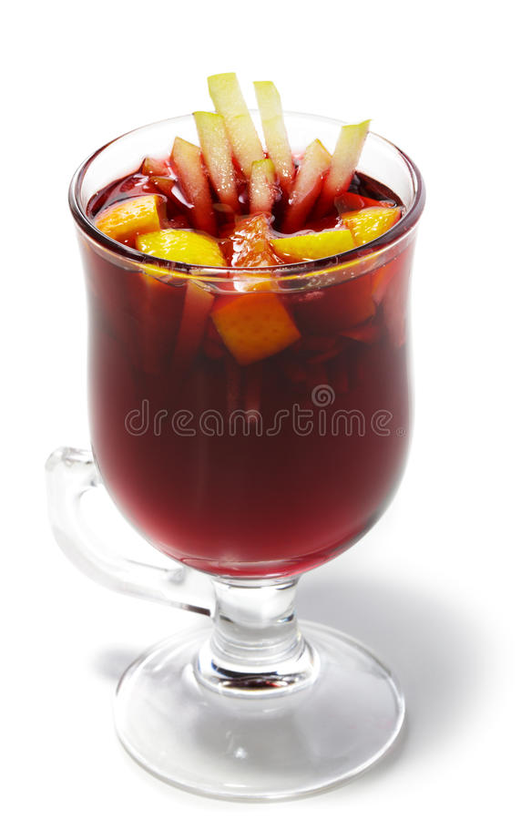 Winter Cocktail -Mulled Wine Royalty Free Stock Photography