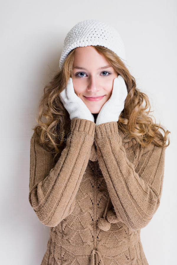 Download Winter cold is coming. stock image. Image of happy, casual - 21417577