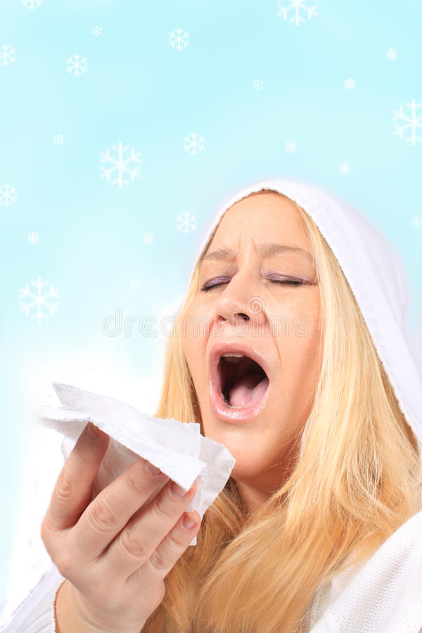 Download Winter cold and flu stock photo. Image of adult, forties - 17207558